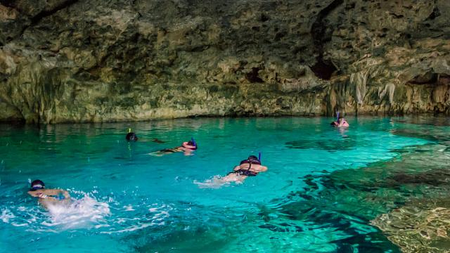 Cenote tulum yalku and pirate show cancun